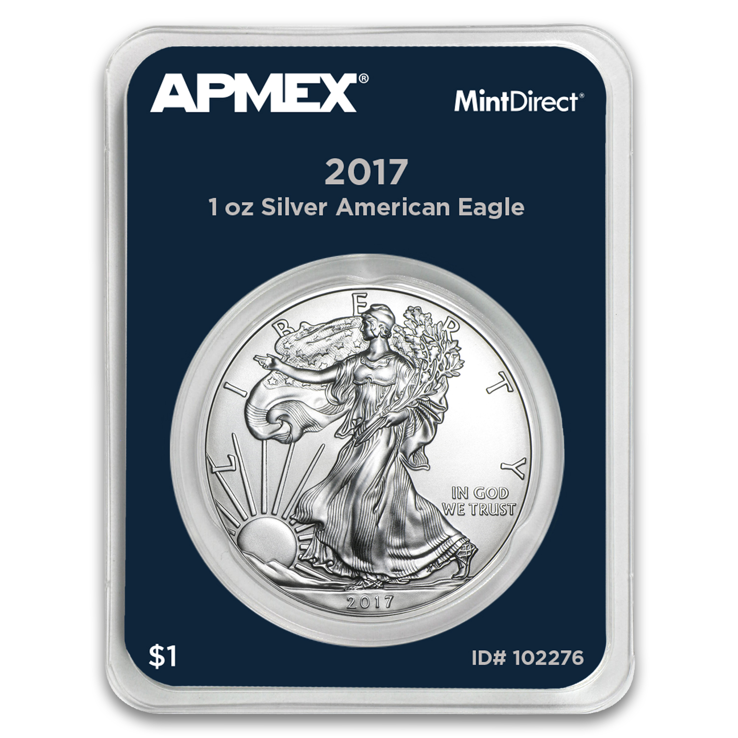 2017 1 oz Silver American Eagle (MintDirect® Single)