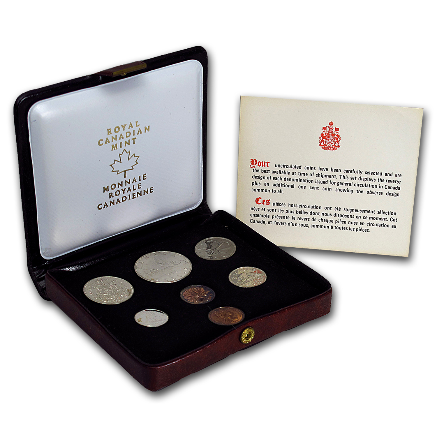 1976 Canada 7 Coin Nickel Custom Set Red Case