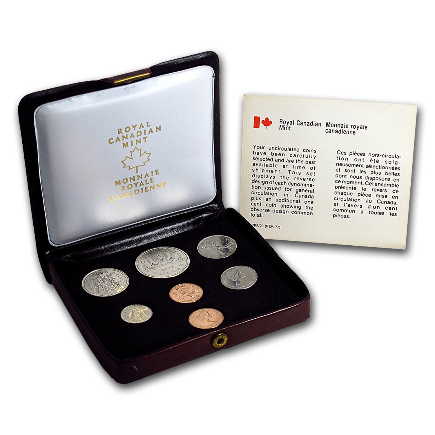 1977 Canada 7 Coin Nickel Custom Set Red Case