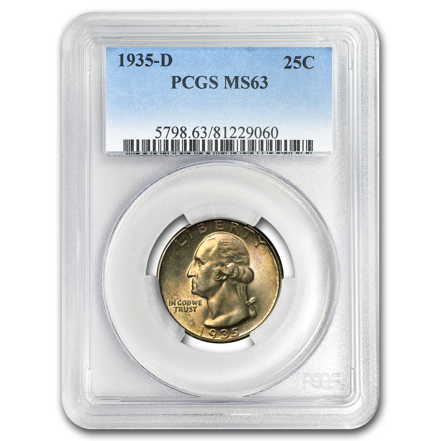 1935-D Washington Quarter MS-63 PCGS