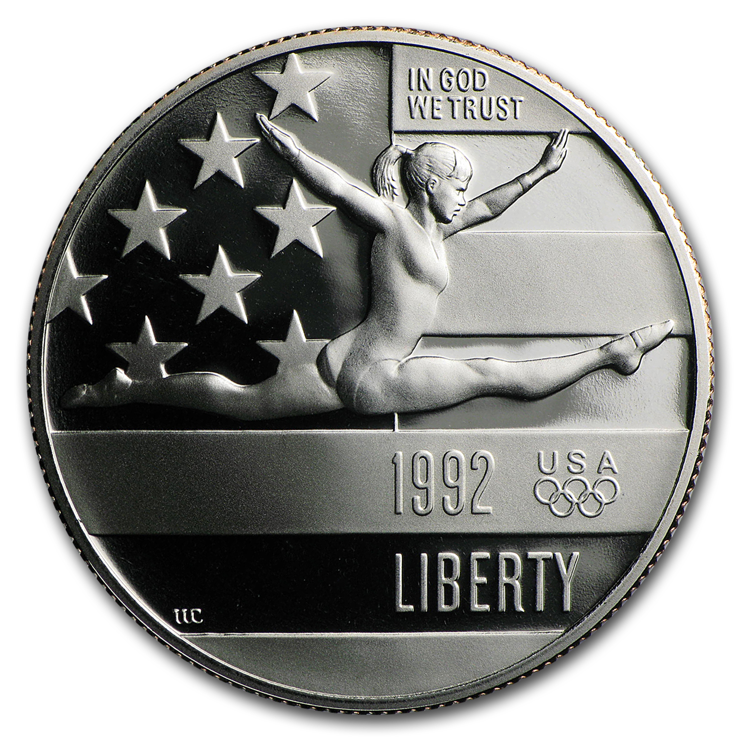 1992-S Olympic Gymnast 1/2 Dollar Clad Commem Proof (Cap Only)