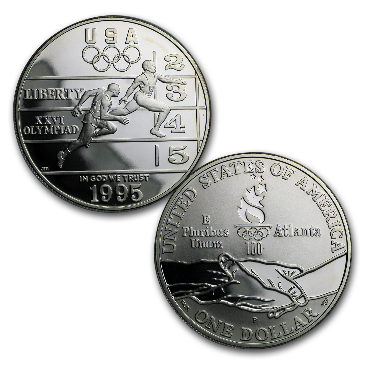 1995 & 1996 8-Coin Atlanta Olympic Proof Set