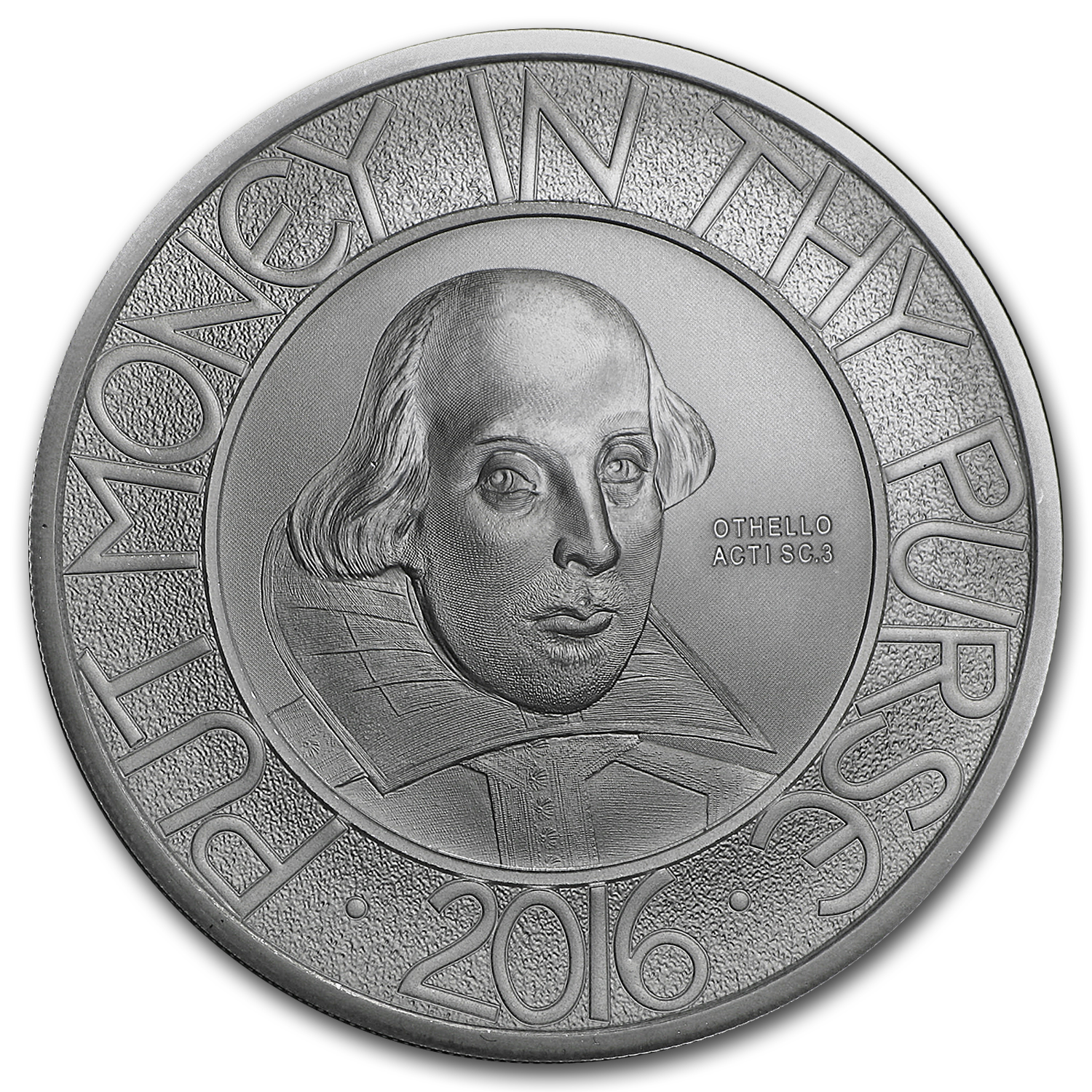 2016 United Kingdom £2 Silver 400th Anniv Death of Shakespeare