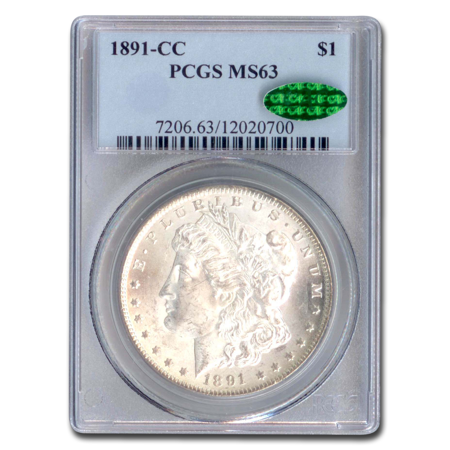 1891-CC Morgan Dollar MS-63 PCGS (CAC)