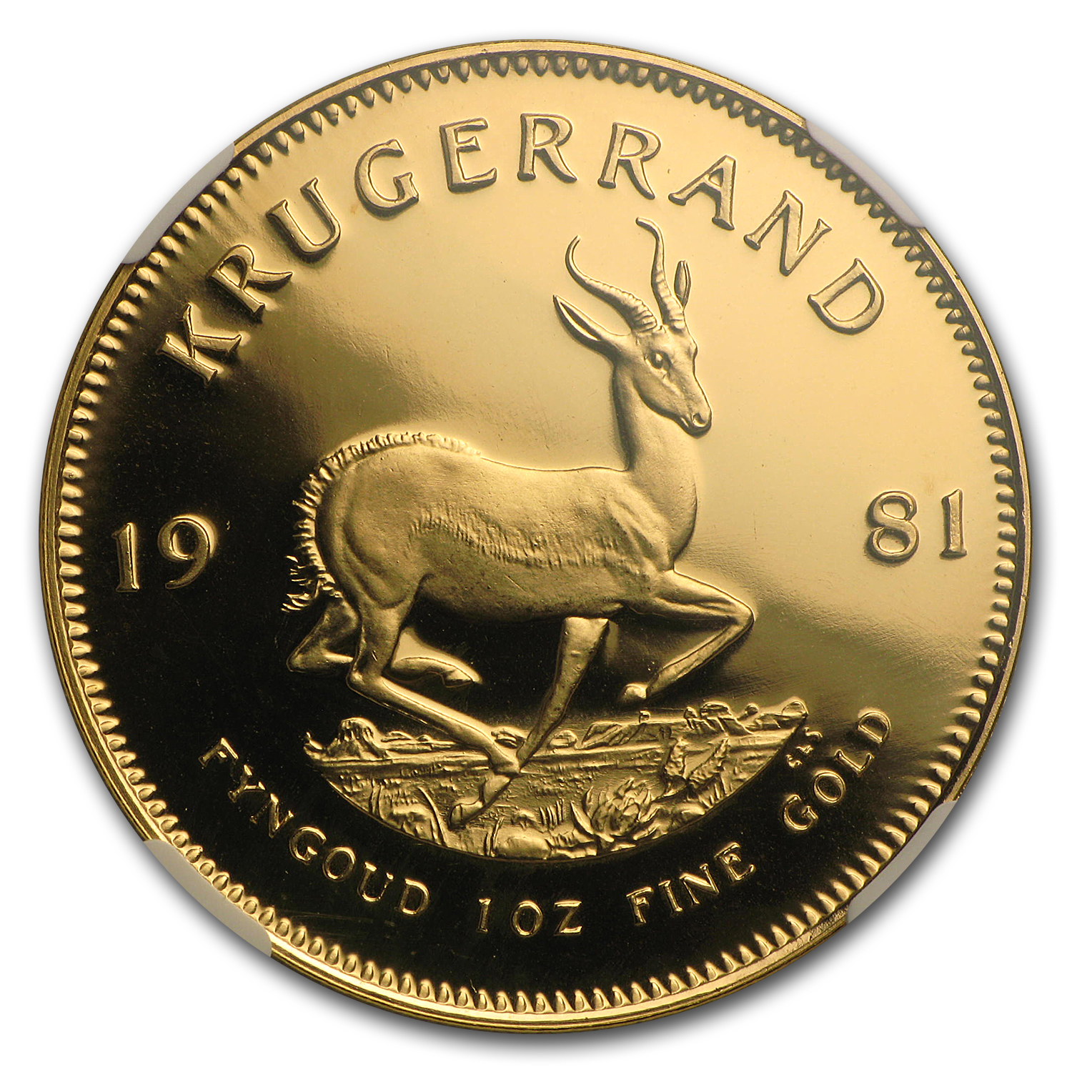 1981 South Africa 1 oz Gold Krugerrand PF-68 NGC