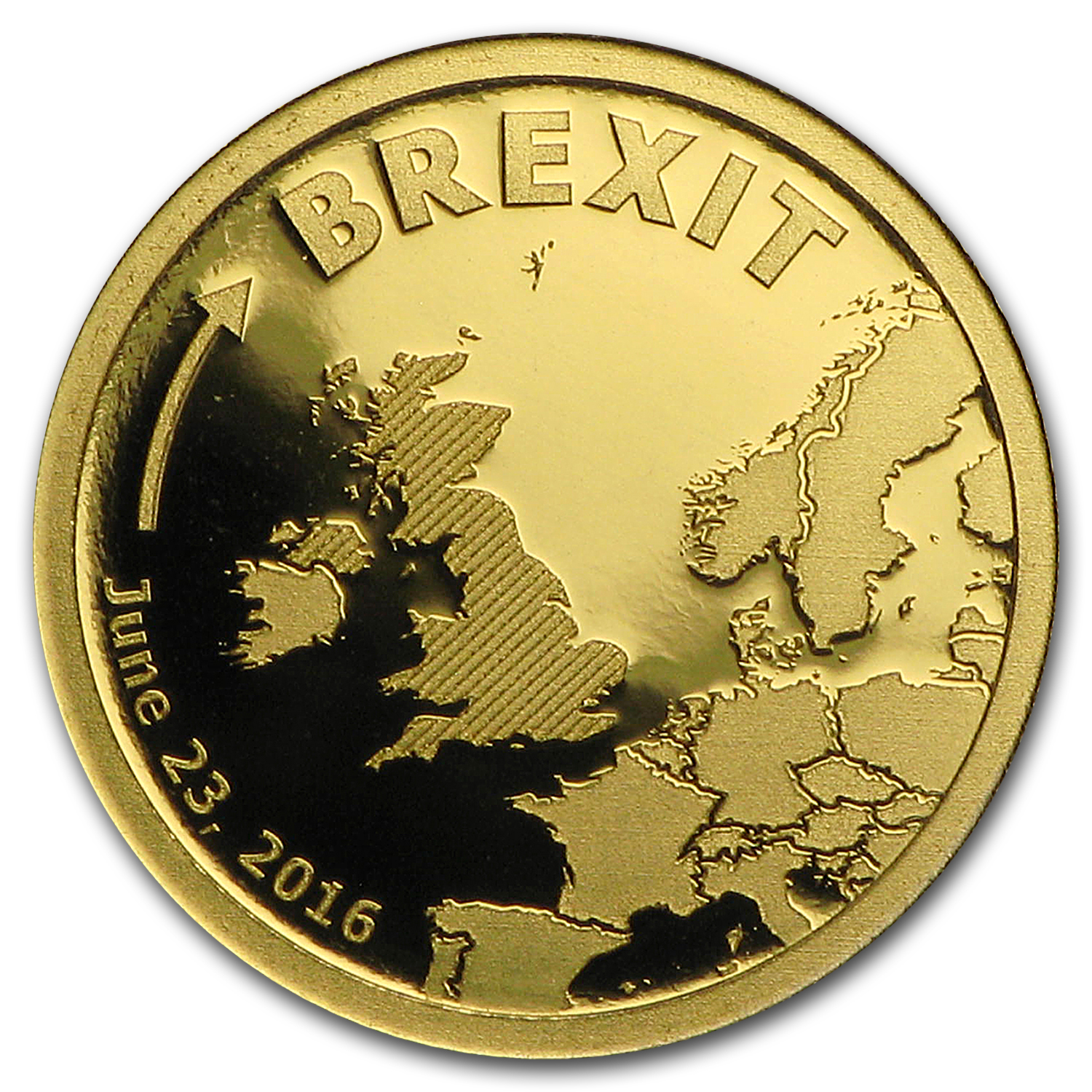 2016 Cook Islands 1/2 gram Gold Brexit Proof