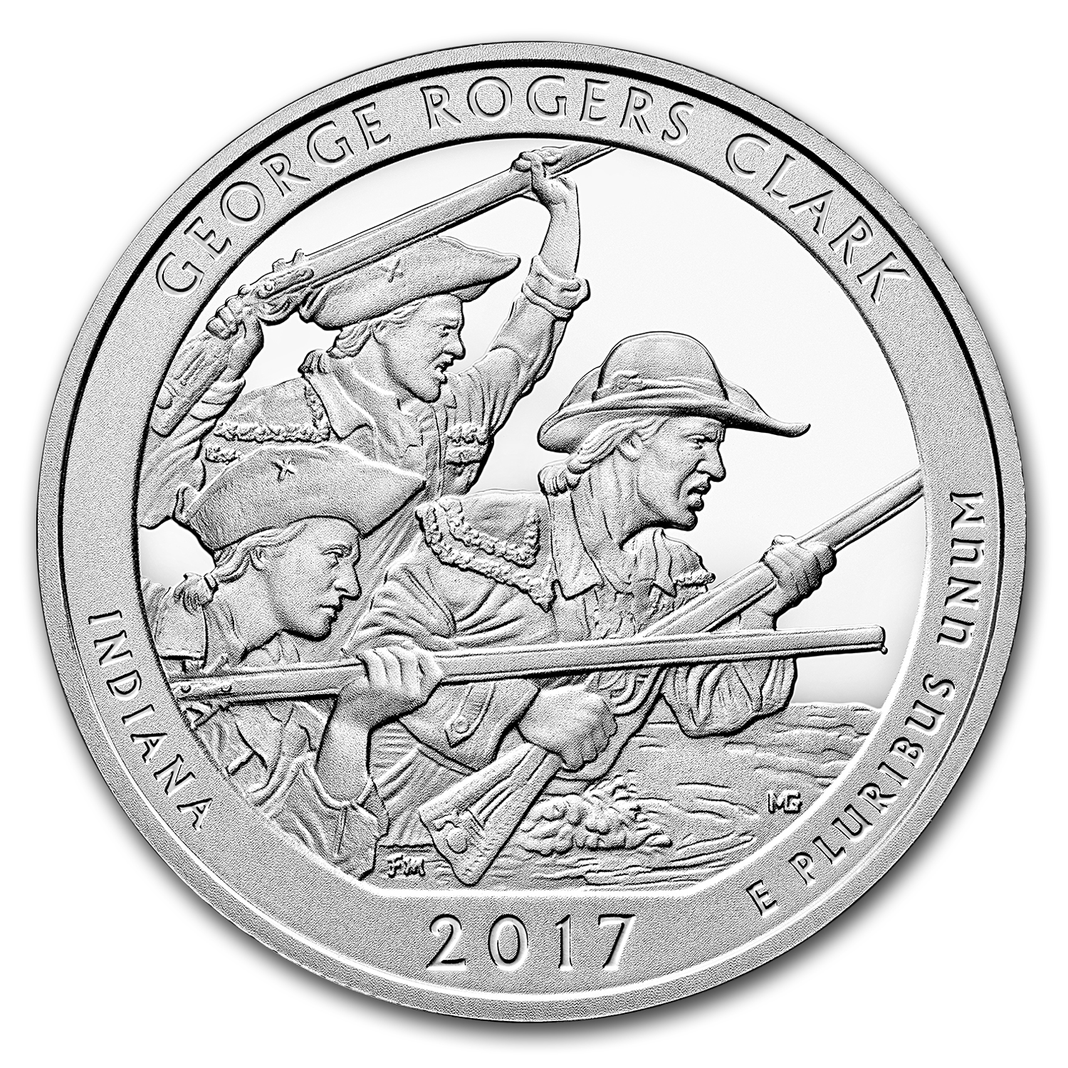 2017 5 oz Silver ATB George Rogers Clark National Park, IN