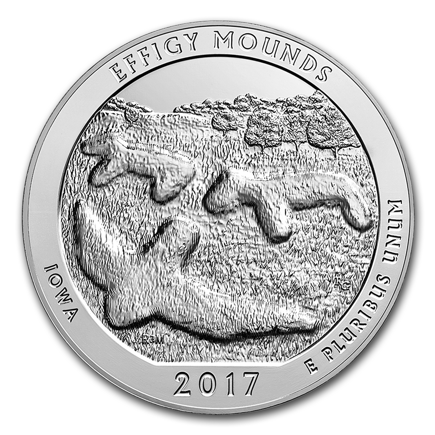 2017 5 oz Silver ATB Effigy Mounds (10-Coin MintDirect® Tube)