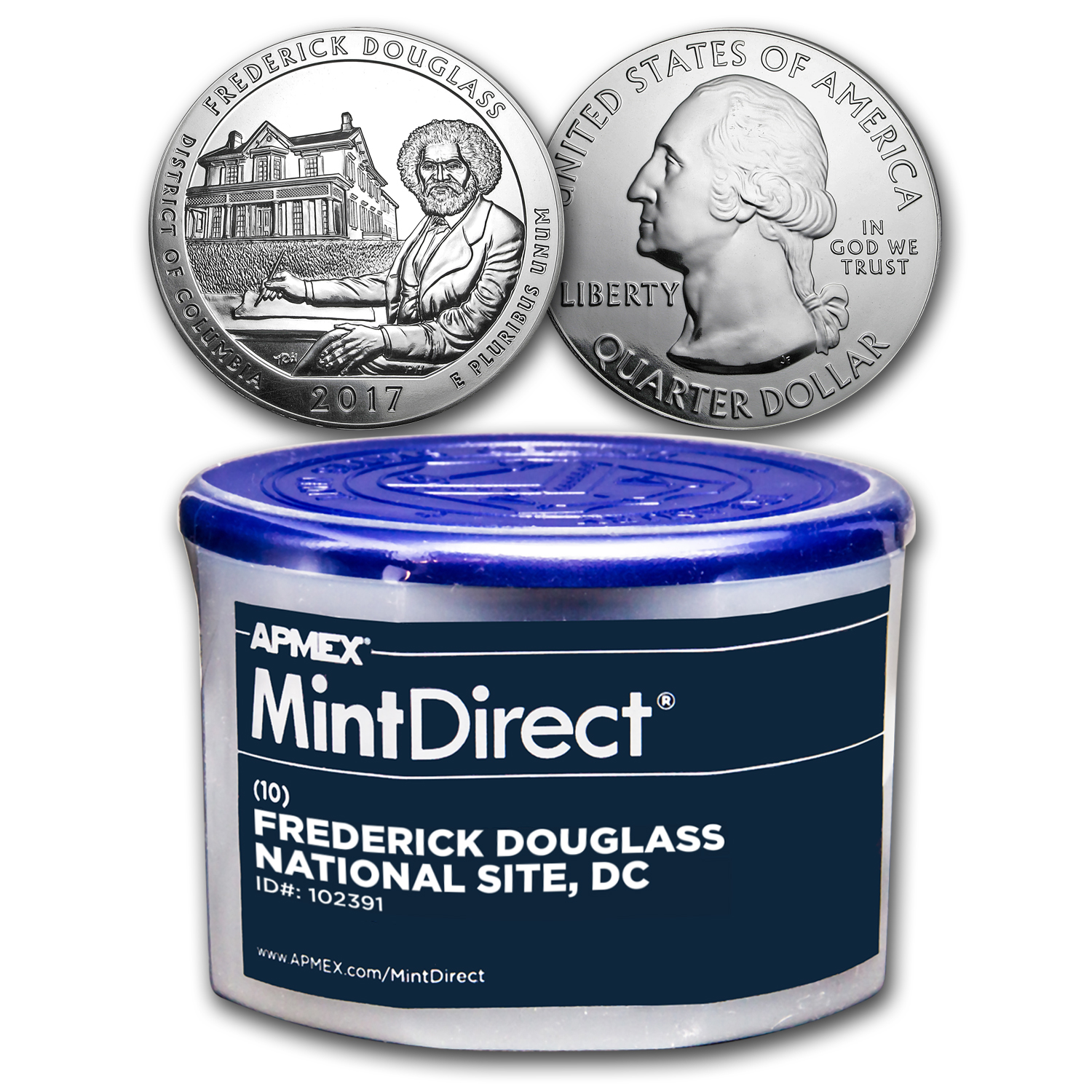 2017 5 oz Silver ATB Frederick Douglass 10-Coin MintDirect® Tube