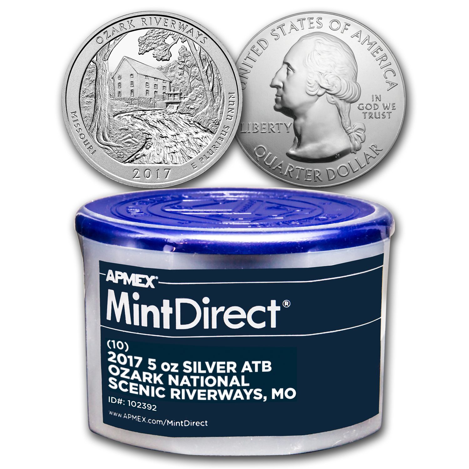 2017 5 oz Silver ATB Ozark Riverways (10-Coin MintDirect® Tube)