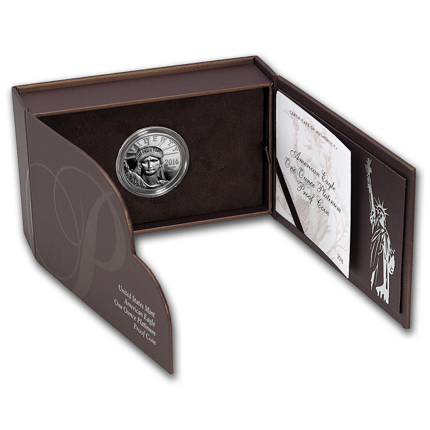 2015 & 2016 2-Coin 1 oz Proof Platinum Eagle Set (w/Box & COA)
