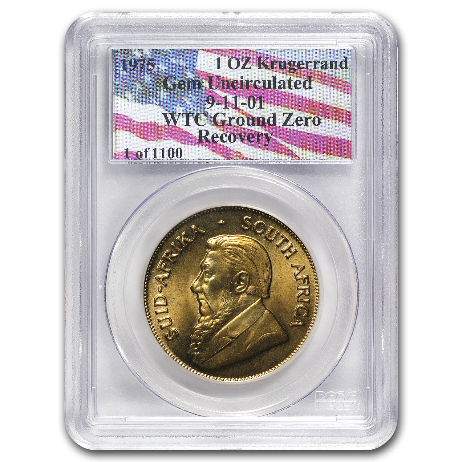1975 South Africa 1 oz Gold Krugerrand Gem Unc PCGS (WTC)