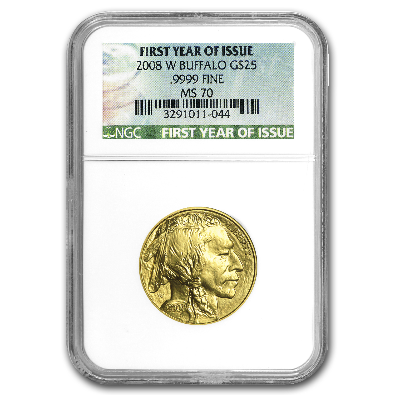 2008-W 1/2 oz Gold Buffalo MS-70 NGC (First Year of Issue)