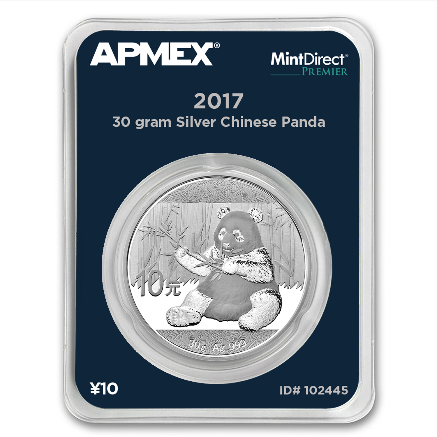 2017 China 30 gram Silver Panda BU (MintDirect® Premier Single)