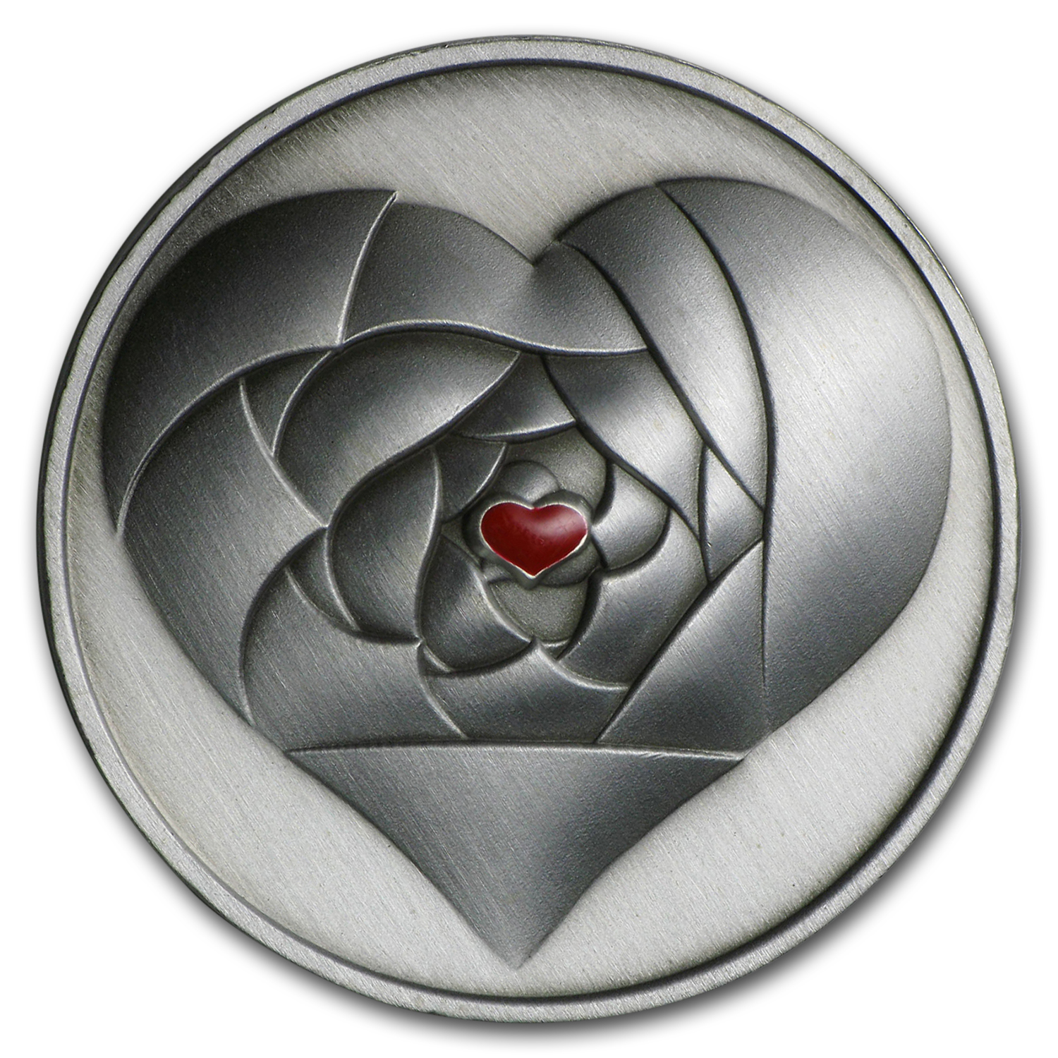 2016 Cook Islands Silver Rose in your Heart Coin w/Necklace