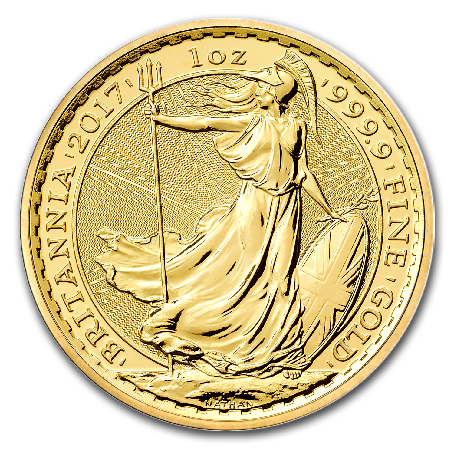 2017 Great Britain 1 oz Gold Britannia BU