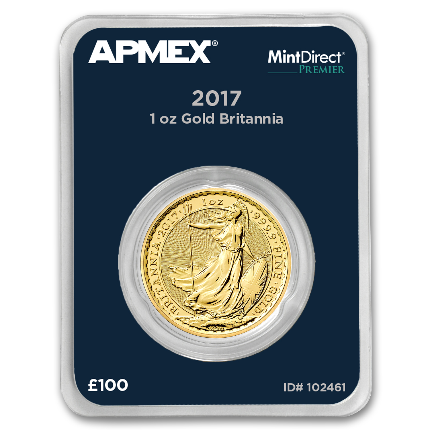 2017 GB 1 oz Gold Britannia (MintDirect® Premier Single)