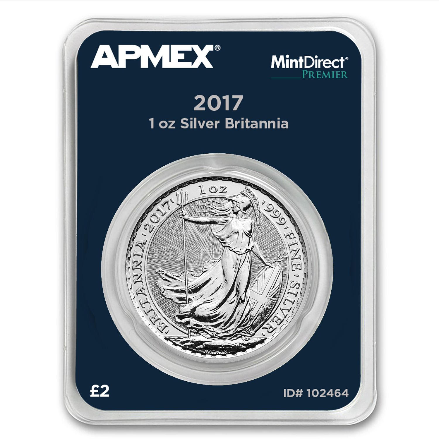 2017 Great Britain 1 oz Silver Britannia (MintDirect® Premier)