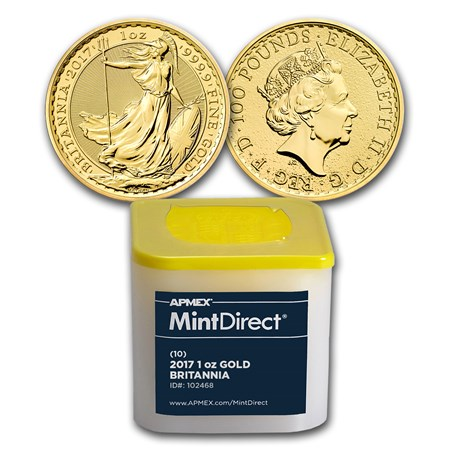 2017 Great Britain Gold Britannia Bu 10 Coin Mintdirect
