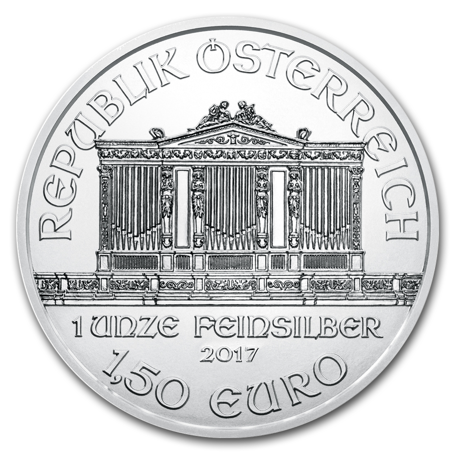 2017 Austria 1 oz Silver Philharmonic (20-Coin MintDirect® Tube)