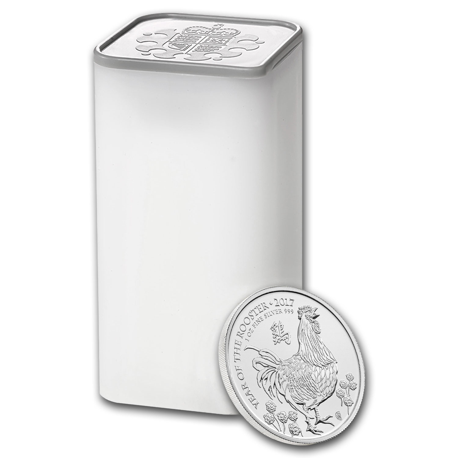 2017 GB 500-coin 1 oz Silver Year of the Rooster Monster Box BU