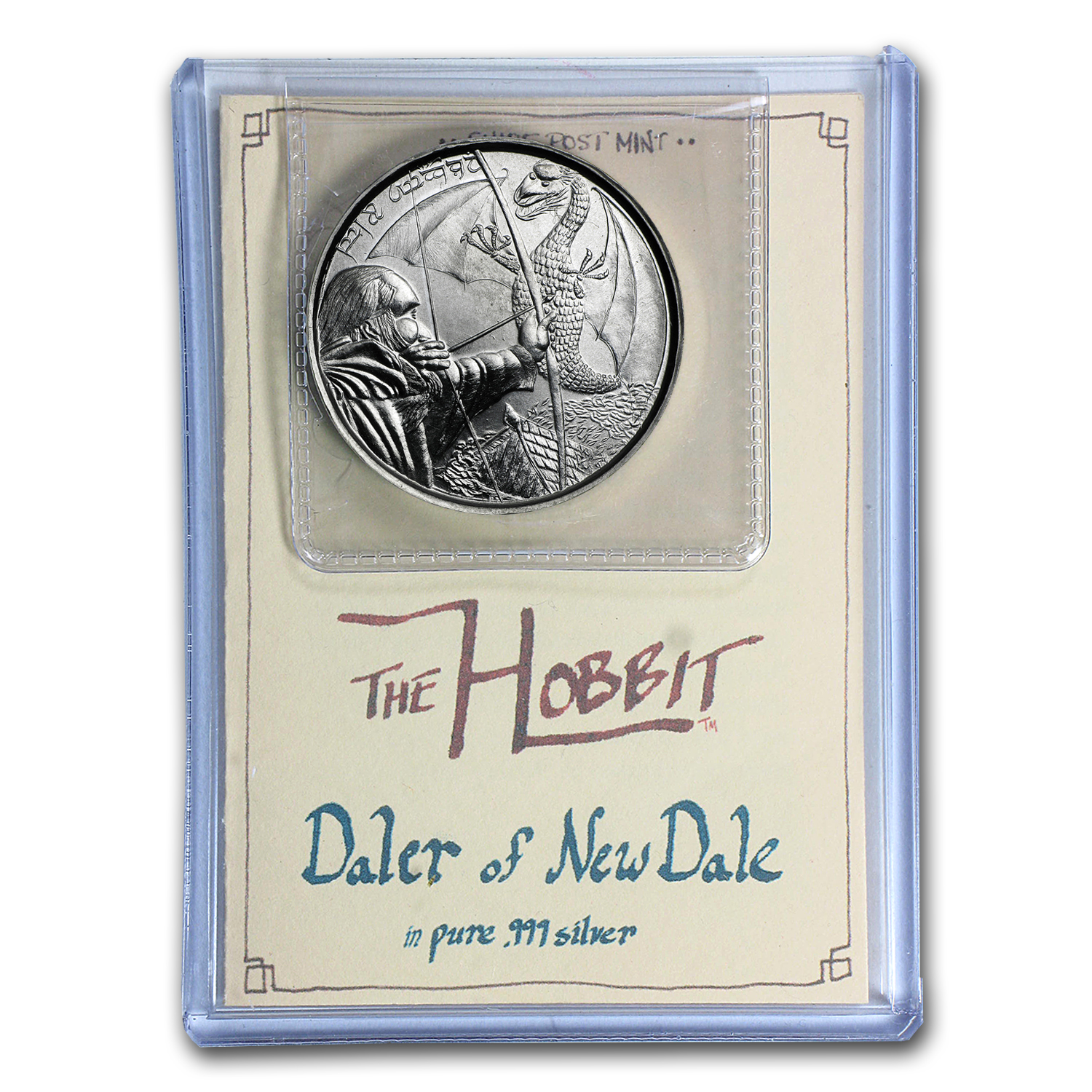 1 oz Silver Round - The Hobbit: The Daler of New Dale