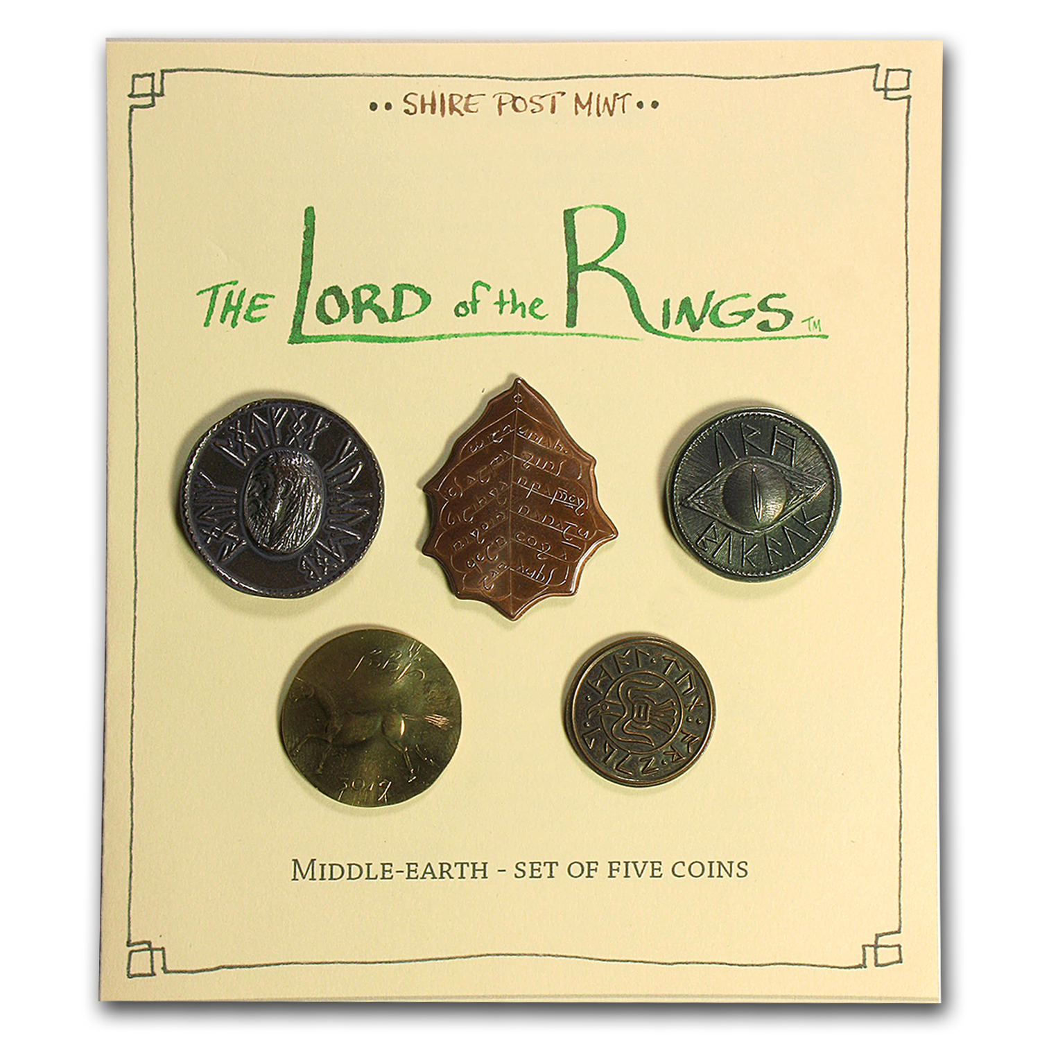 The Lord of The Rings - Middle Earth Set of 5 Coins