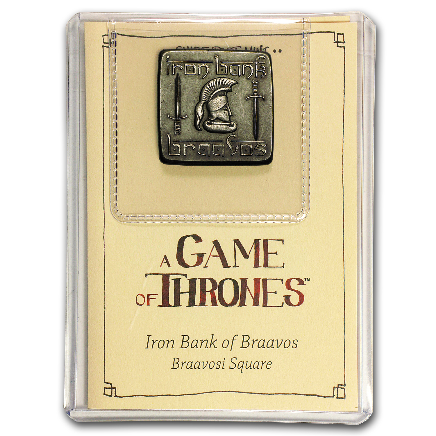 A Game Of Thrones - Braavosi Iron Square Coin