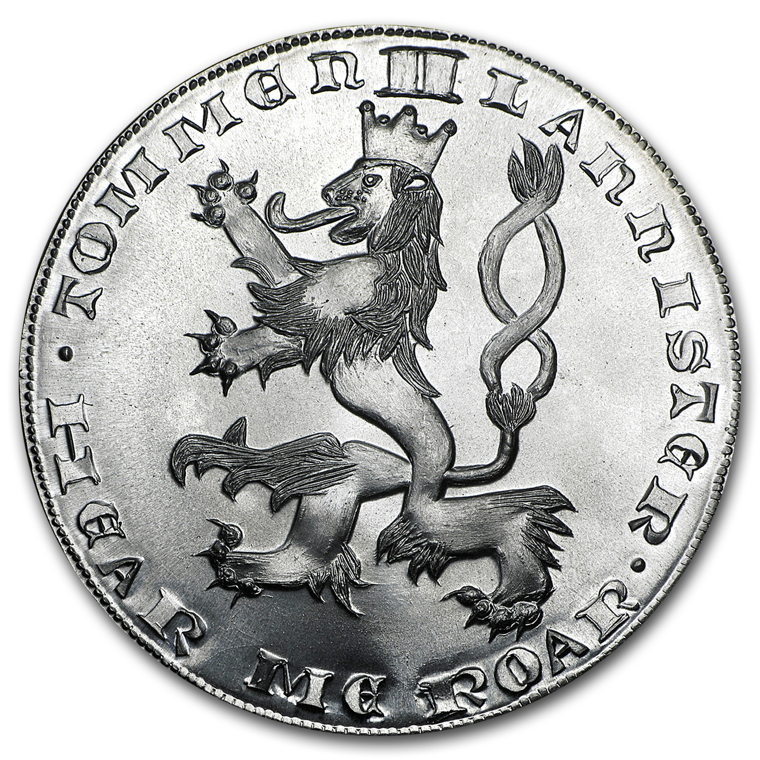 Silver Round - A Game Of Thrones Tommen II Lannister Silver Moon