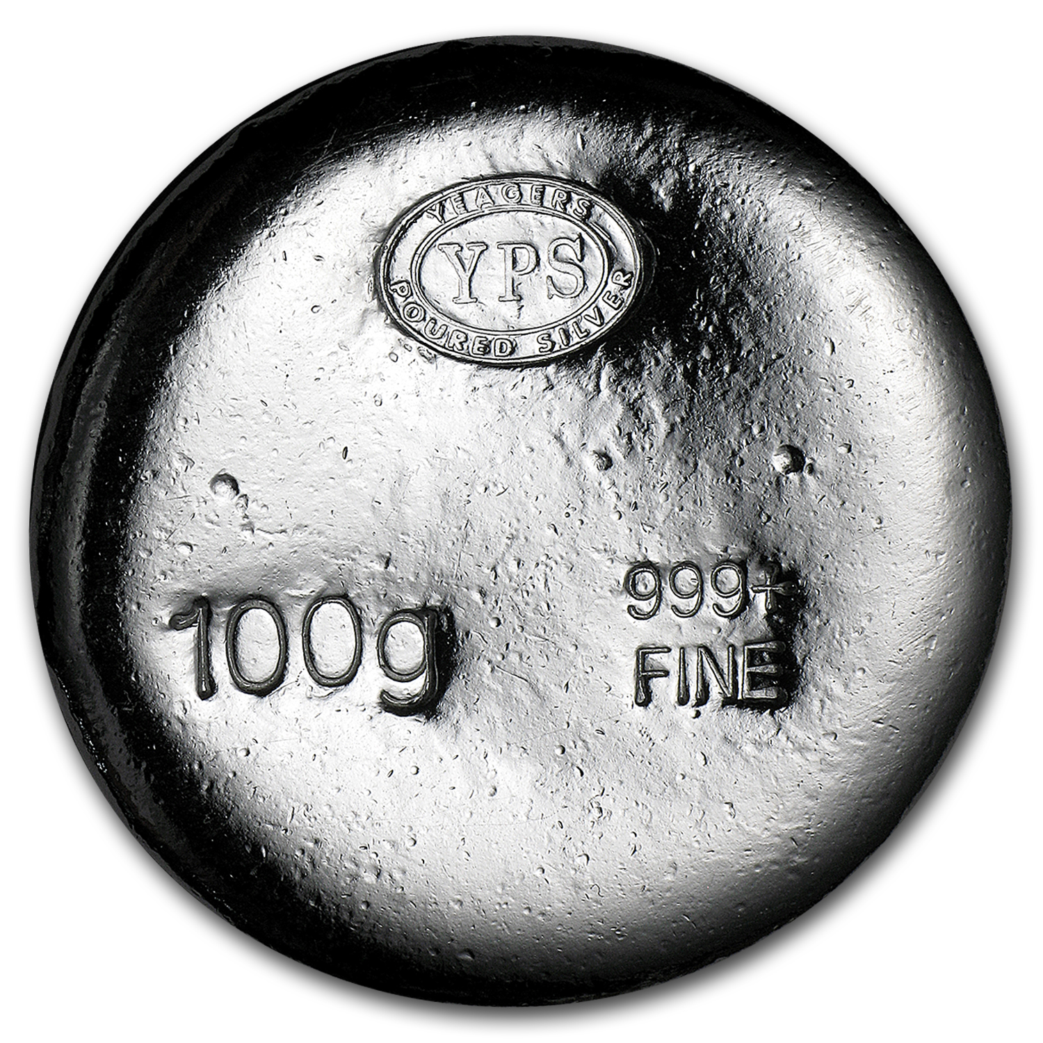 100 gram Silver Round - Yeager Poured Silver (Plata Muerta)