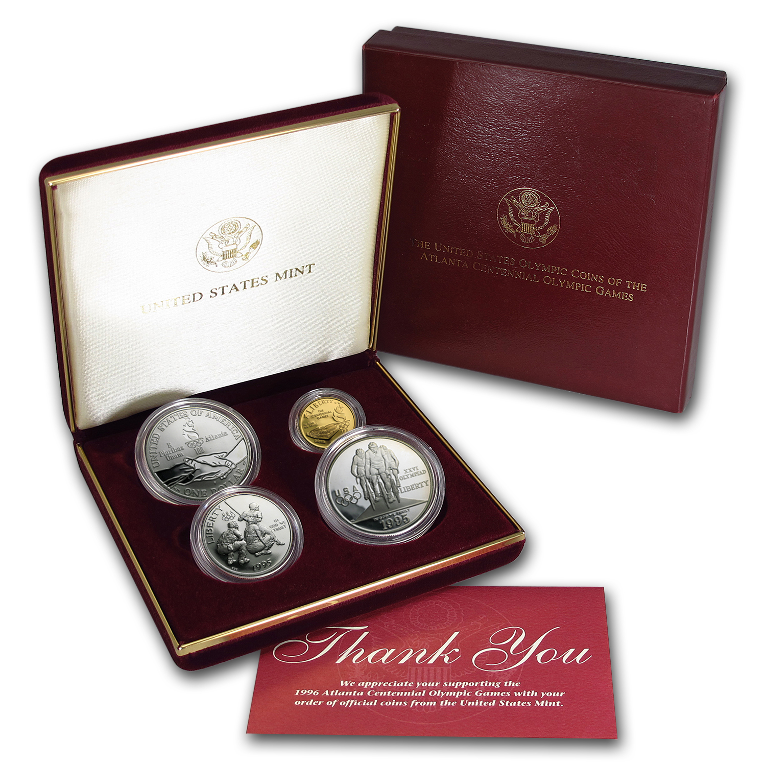 1995 4-Coin Commem Olympic Proof Set (SWTF)