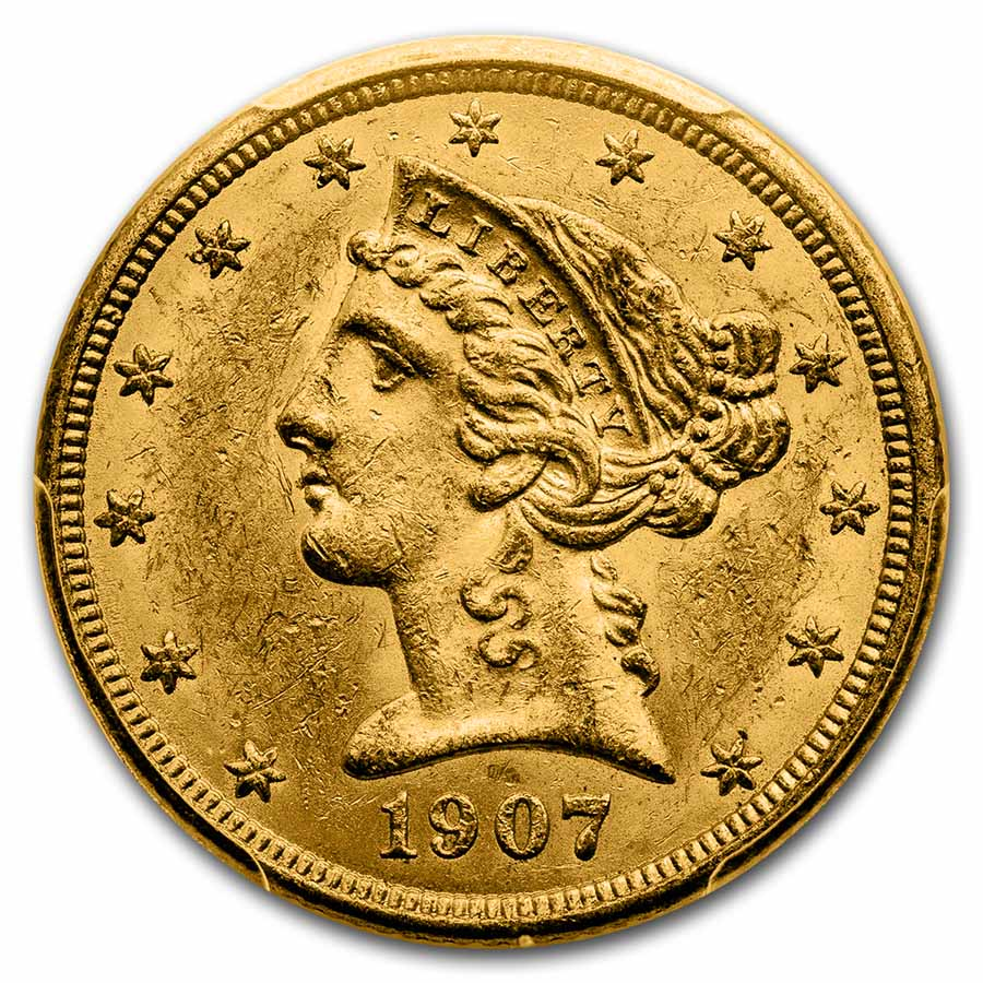 $5 Liberty Gold Half Eagle MS-62 PCGS