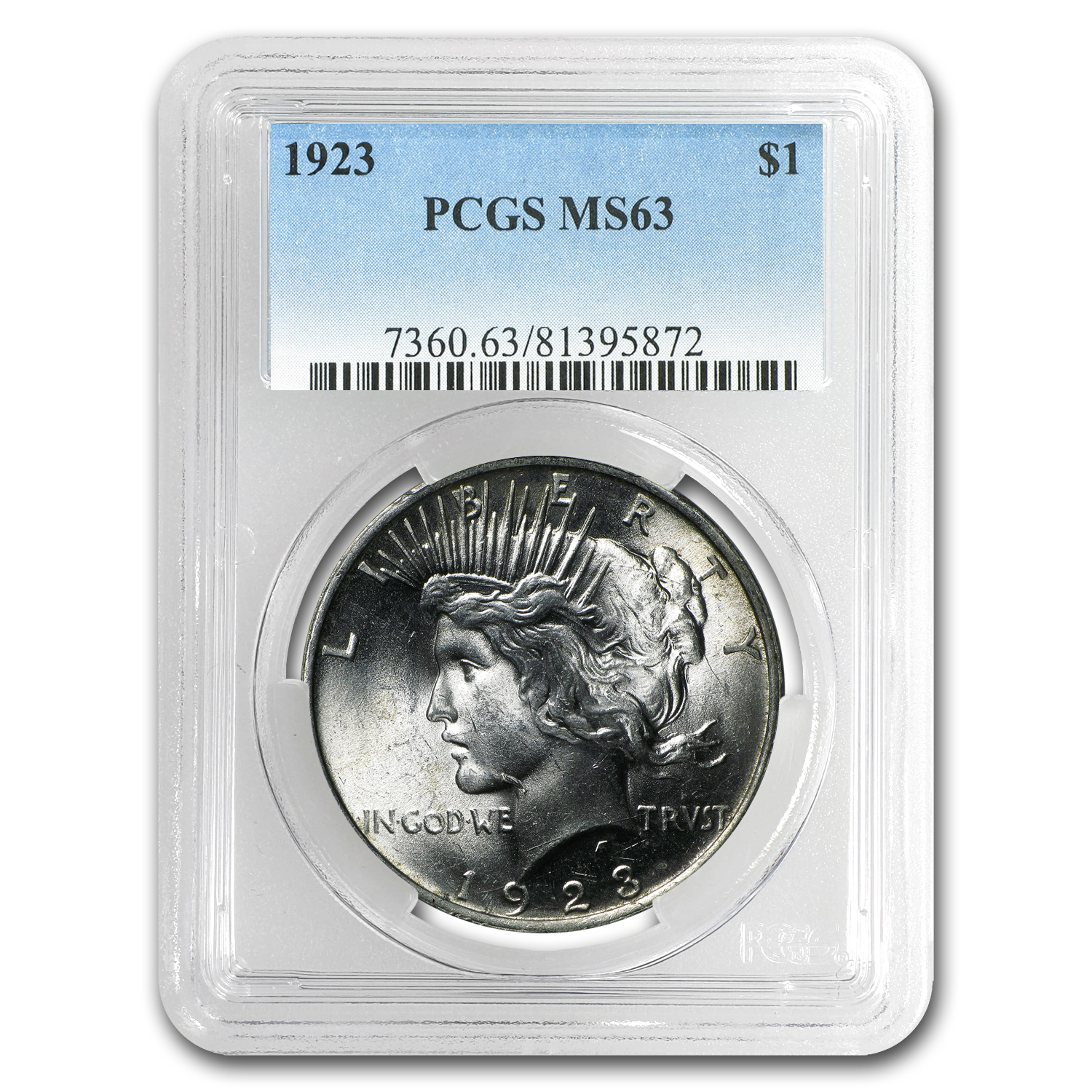 1923 Peace Dollar MS-63 PCGS (VAM-1A, Whisker Jaw, Top-50)