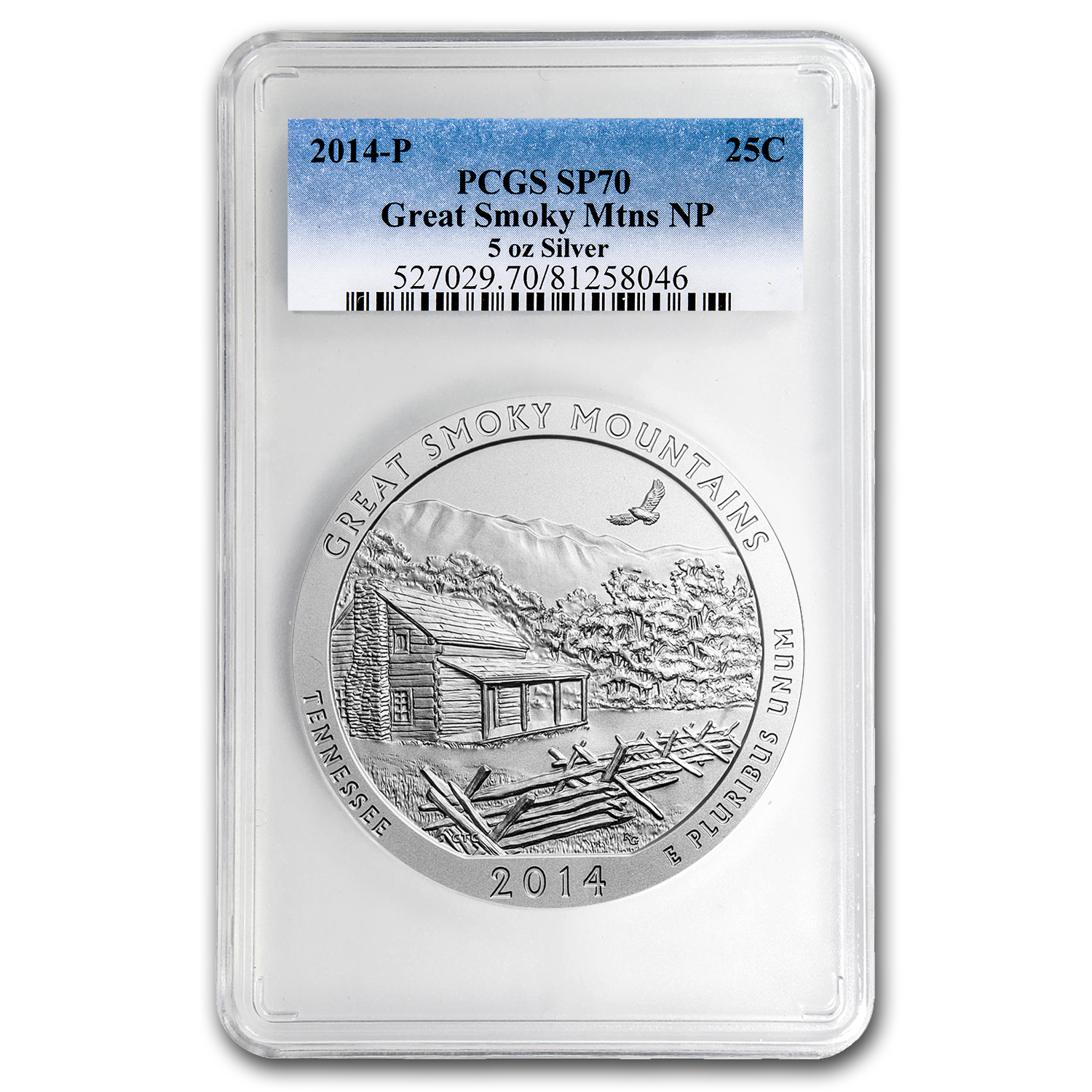 2014-P 5 oz Silver ATB Great Smoky Mountains SP-70 PCGS