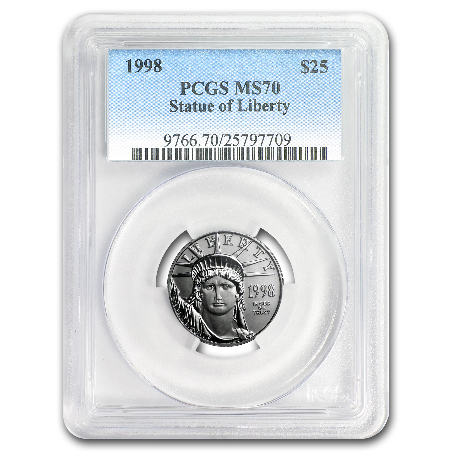 1998 1/4 oz Platinum American Eagle MS-70 PCGS (Registry Set)