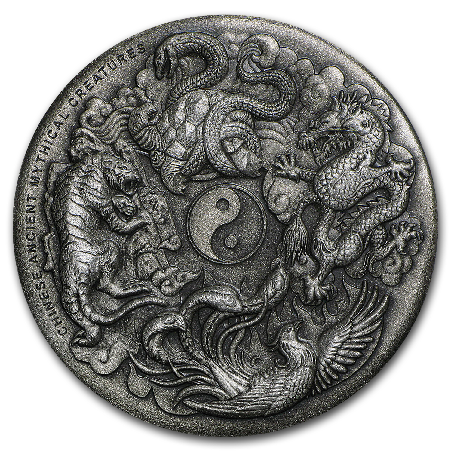 2016 Australia 2 oz Silver Mythical Creatures Antique High Relief