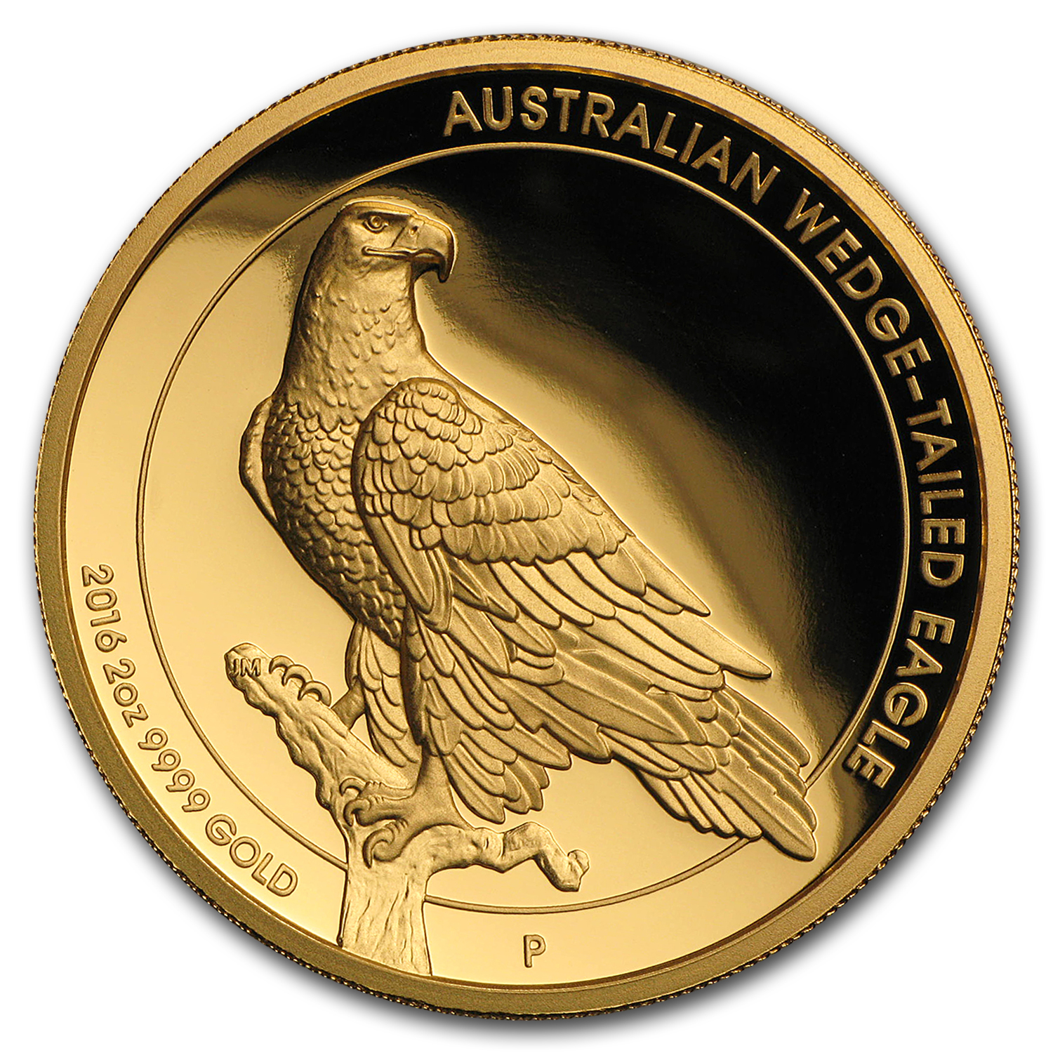 2016 Australia 2 oz Gold Proof Wedge Tailed Eagle (High Relief)