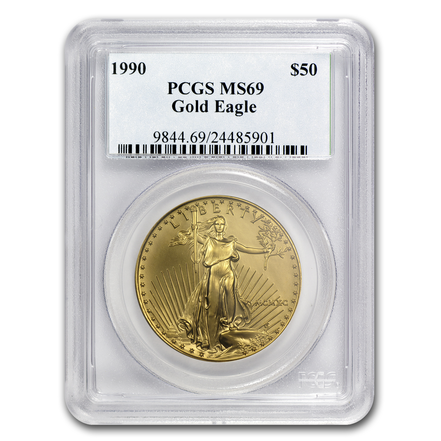 1990 1 oz Gold American Eagle MS-69 PCGS