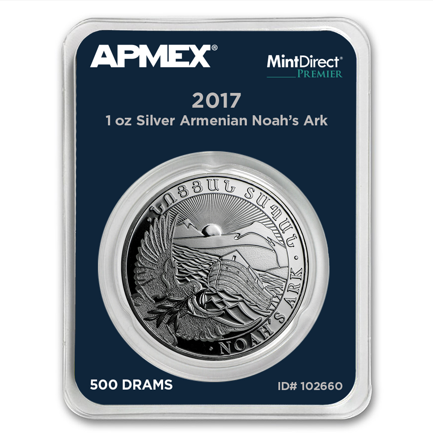 2017 Armenia 1 oz Silver Noah's Ark (MintDirect® Premier Single)