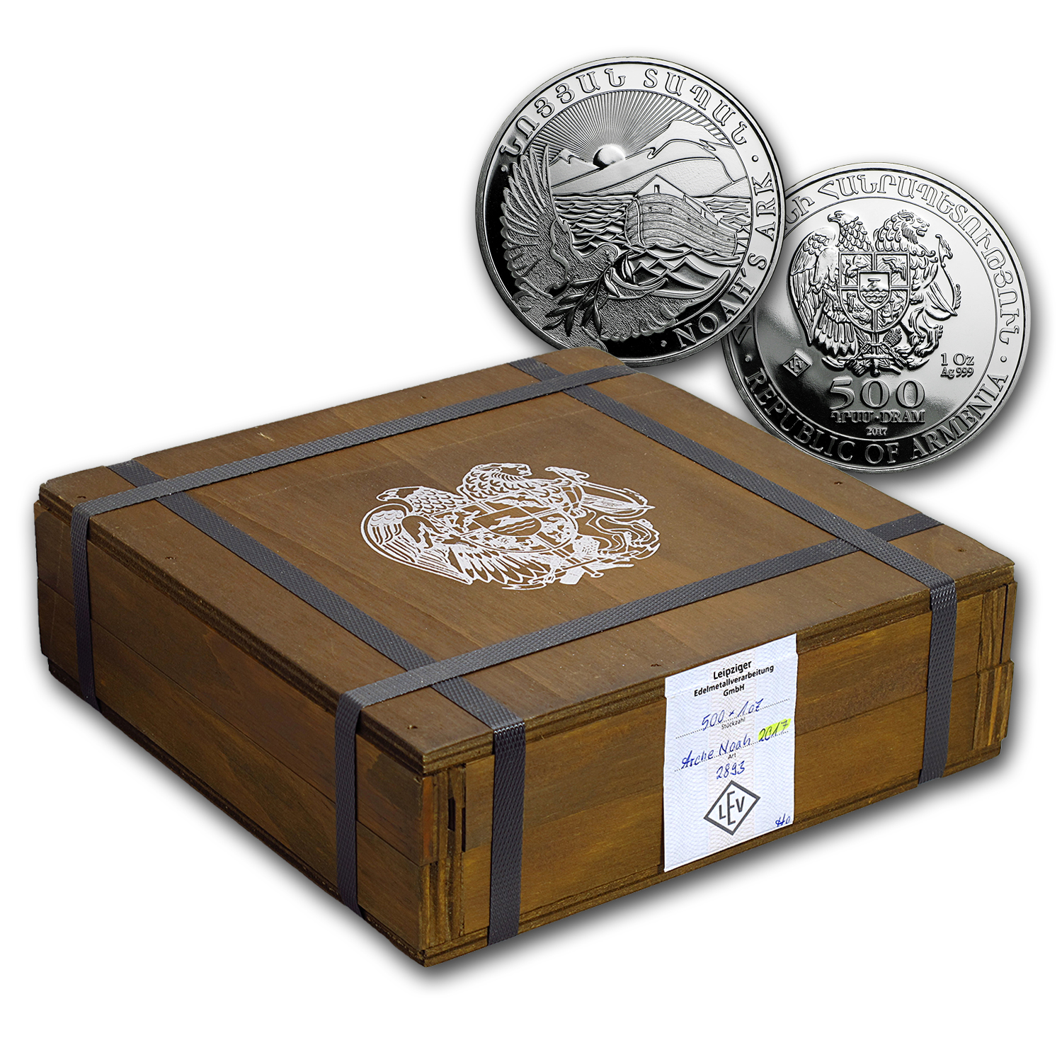2017 Armenia 500-Coin 1 oz Silver Noah's Ark (Sealed Box)