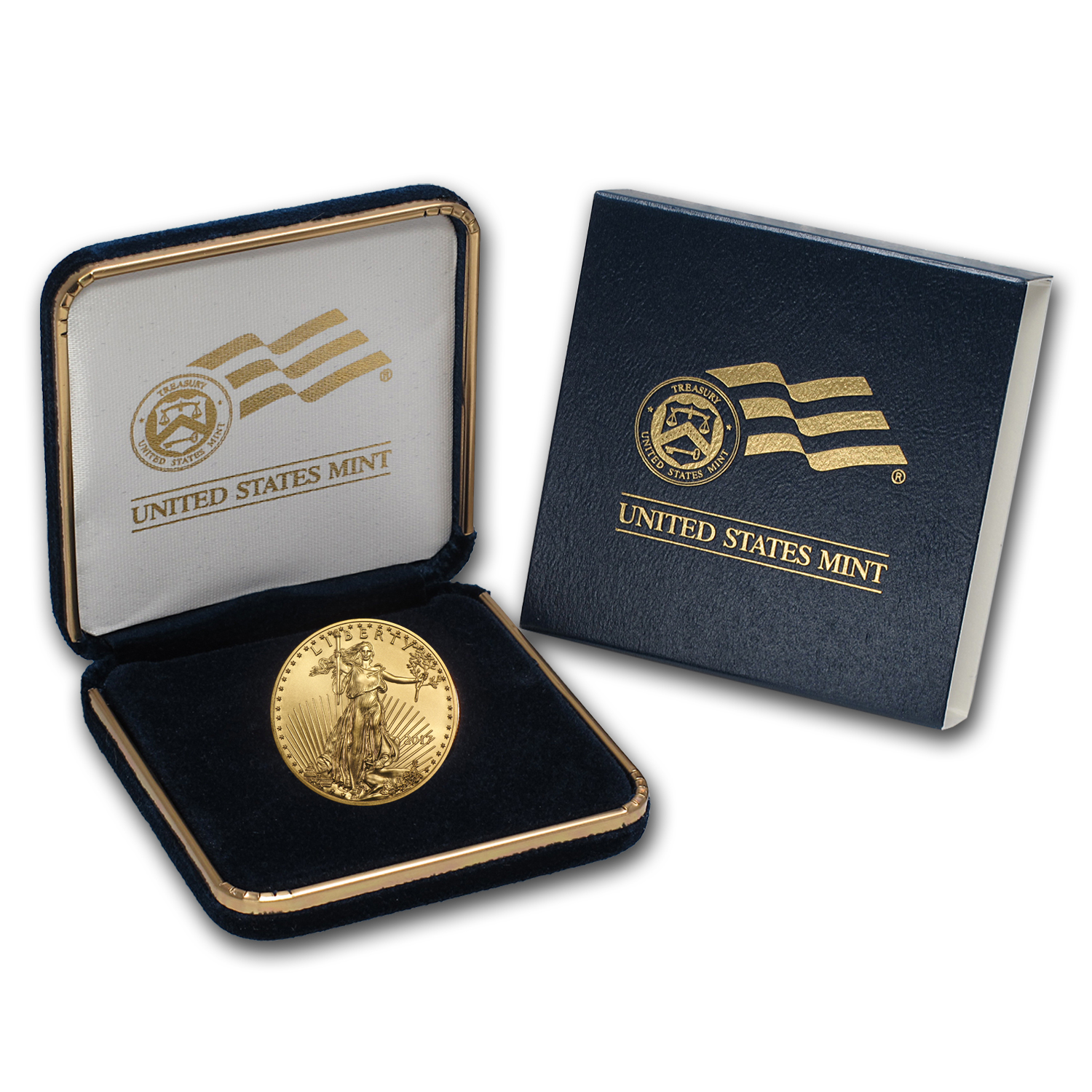 2017 1/2 oz Gold American Eagle BU (w/U.S. Mint Box)