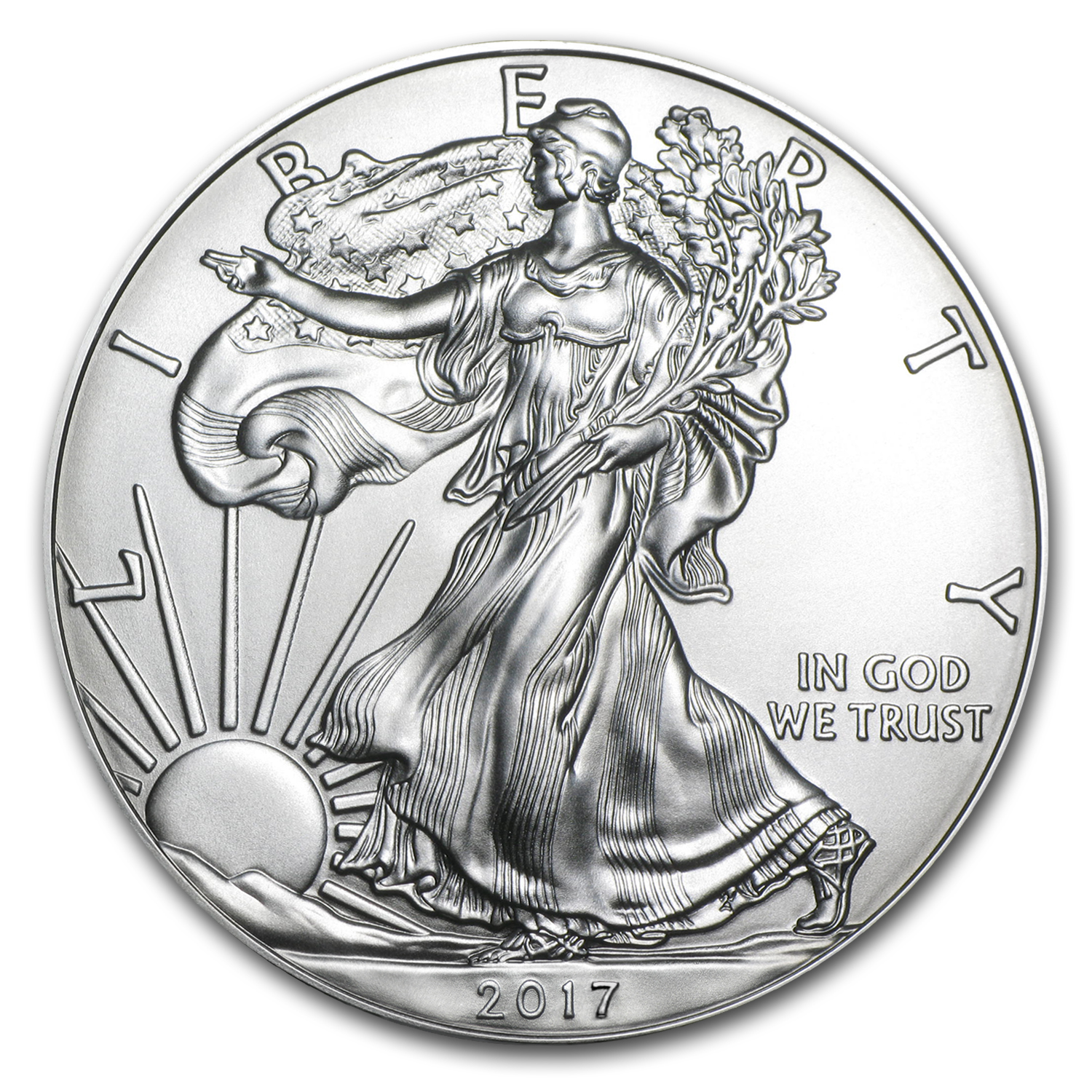 2017 1 oz Silver American Eagle BU (From Santa, Harris Holder)