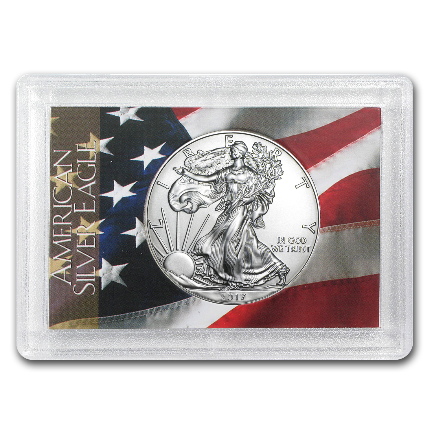 2017 1 oz Silver American Eagle BU (Flag Design, Harris Holder)