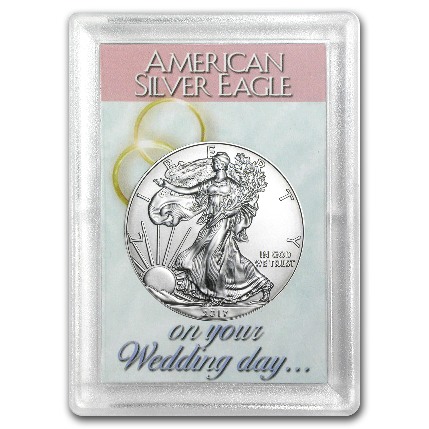 2017 1 oz Silver American Eagle BU (Wedding Day, Harris Holder)