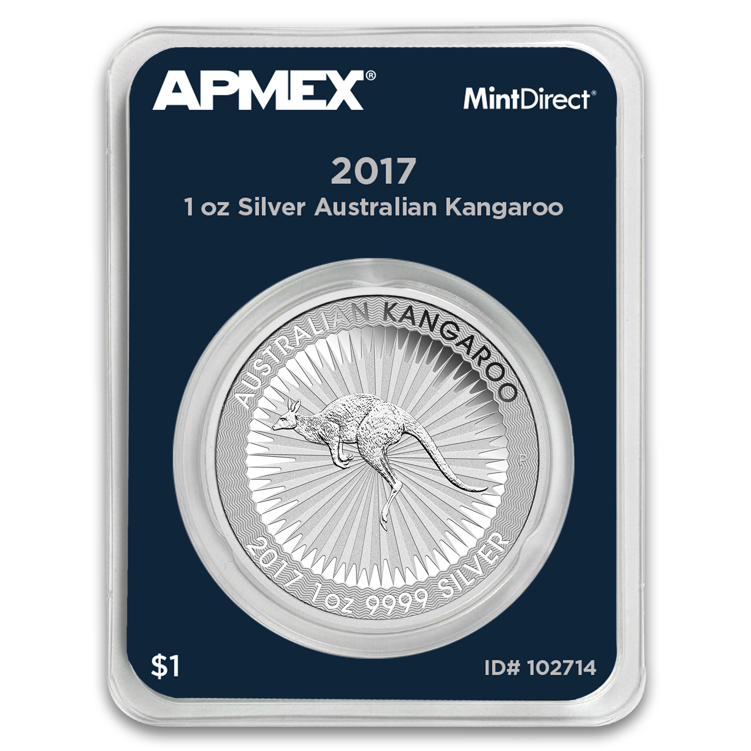 2017 Australia 1 oz Silver Kangaroo (MintDirect® Single)
