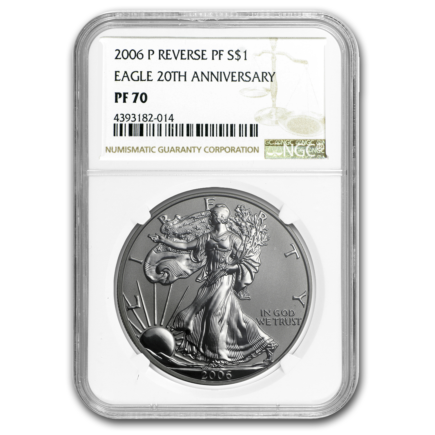 2006-P Reverse Proof Silver Eagle PF-70 NGC