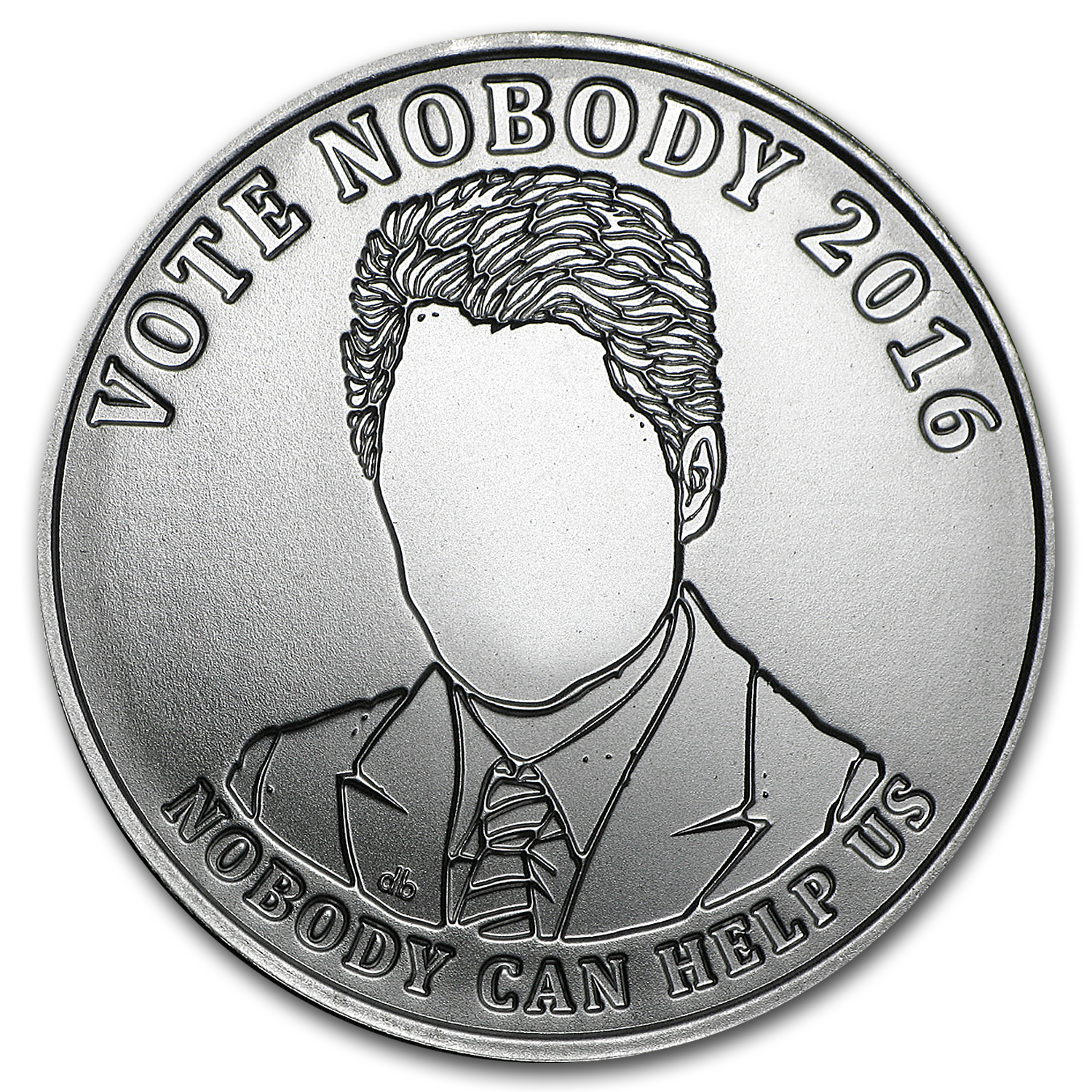 2016 1 oz Silver Shield Round - Vote Nobody