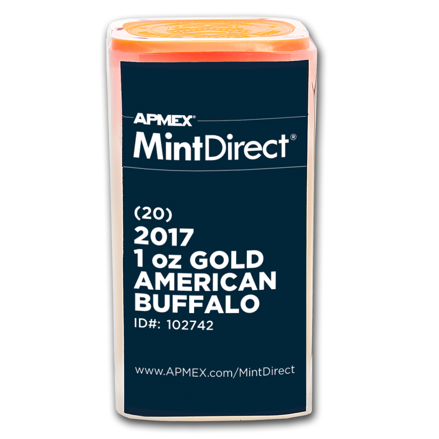 2017 1 oz Gold American Buffalo (20-Coin MintDirect® Tube)
