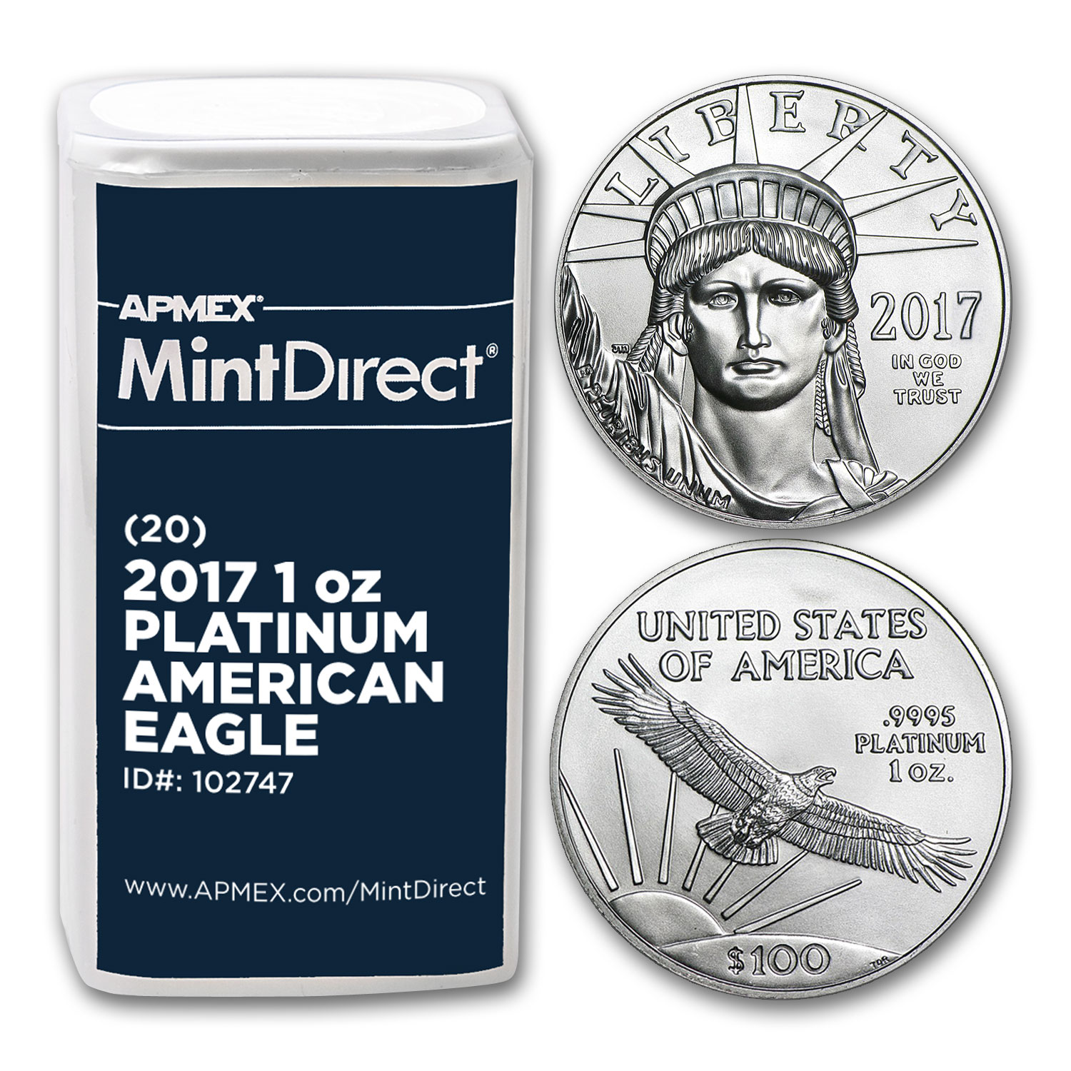 2017 1 oz Platinum American Eagle (20-Coin MintDirect® Tube)