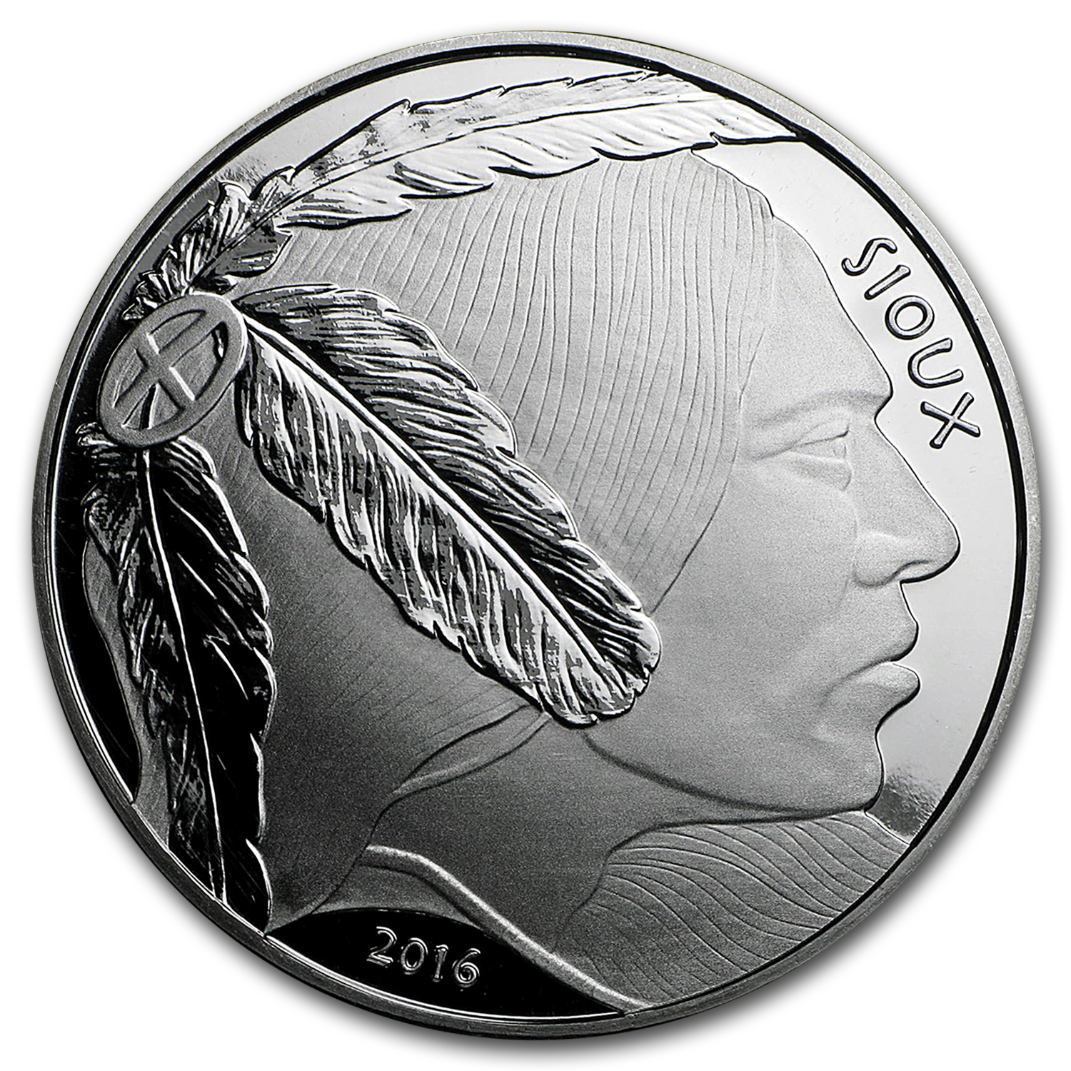 2016 1 oz Silver Native American Mint $1 Sioux Indian